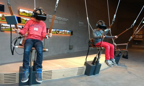 VR-parachutesprong in het Waterliniemuseum